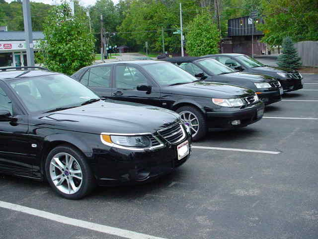 Saab has always worn black well...