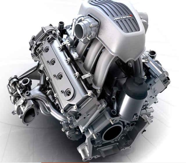 McLaren 3.8 liter V-8