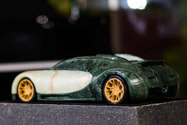 picture of marble bugatti
